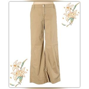 Ann Taylor Loft Wide Leg Khaki Pant 6